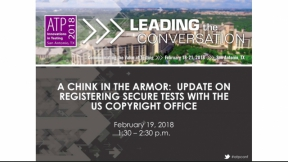 A Chink in the Armor: Update on US Copyright Secure Test Registrations